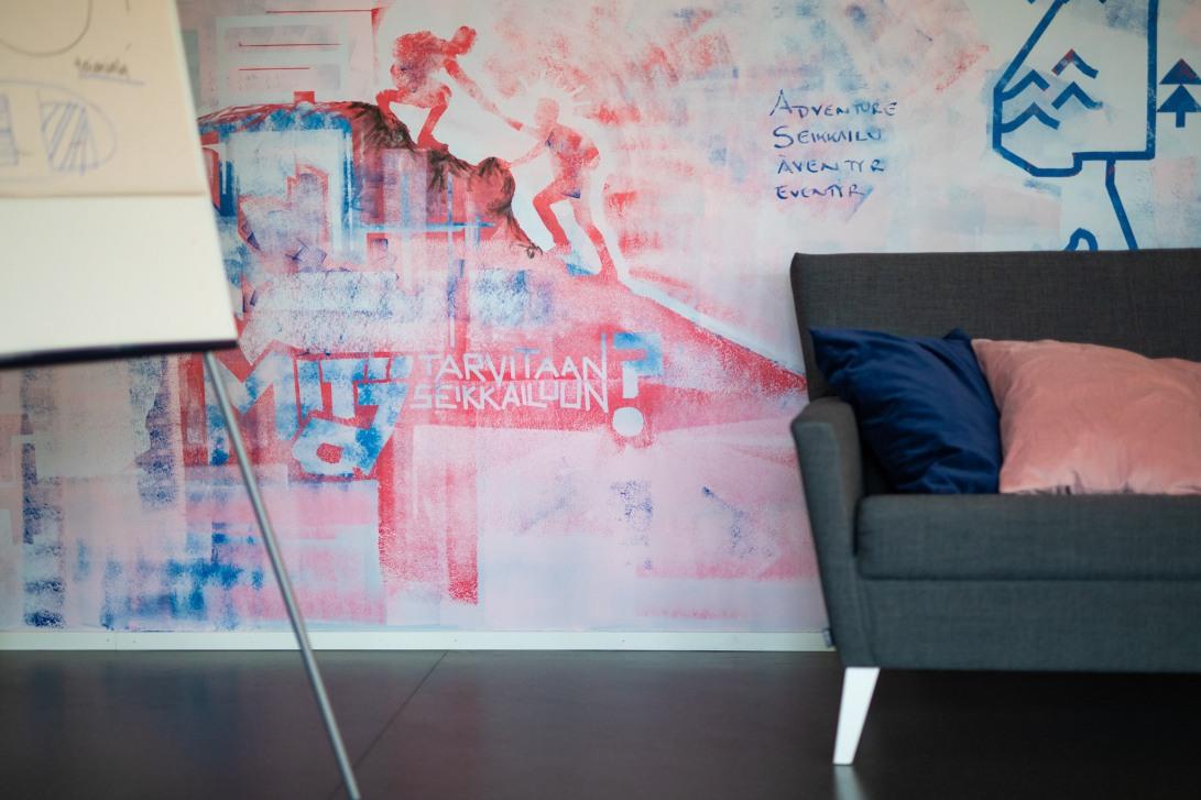 Seinämaalaus toimistoon Jyväskylässä