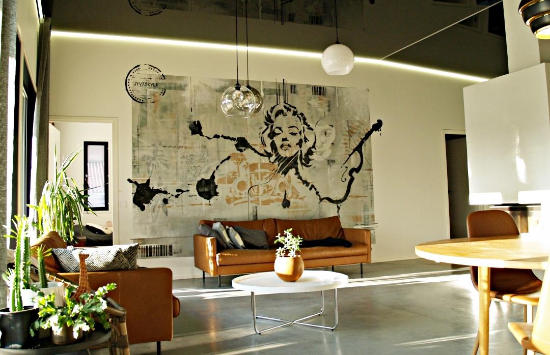 Seinämaalaus_tehosteinä_Marilyn